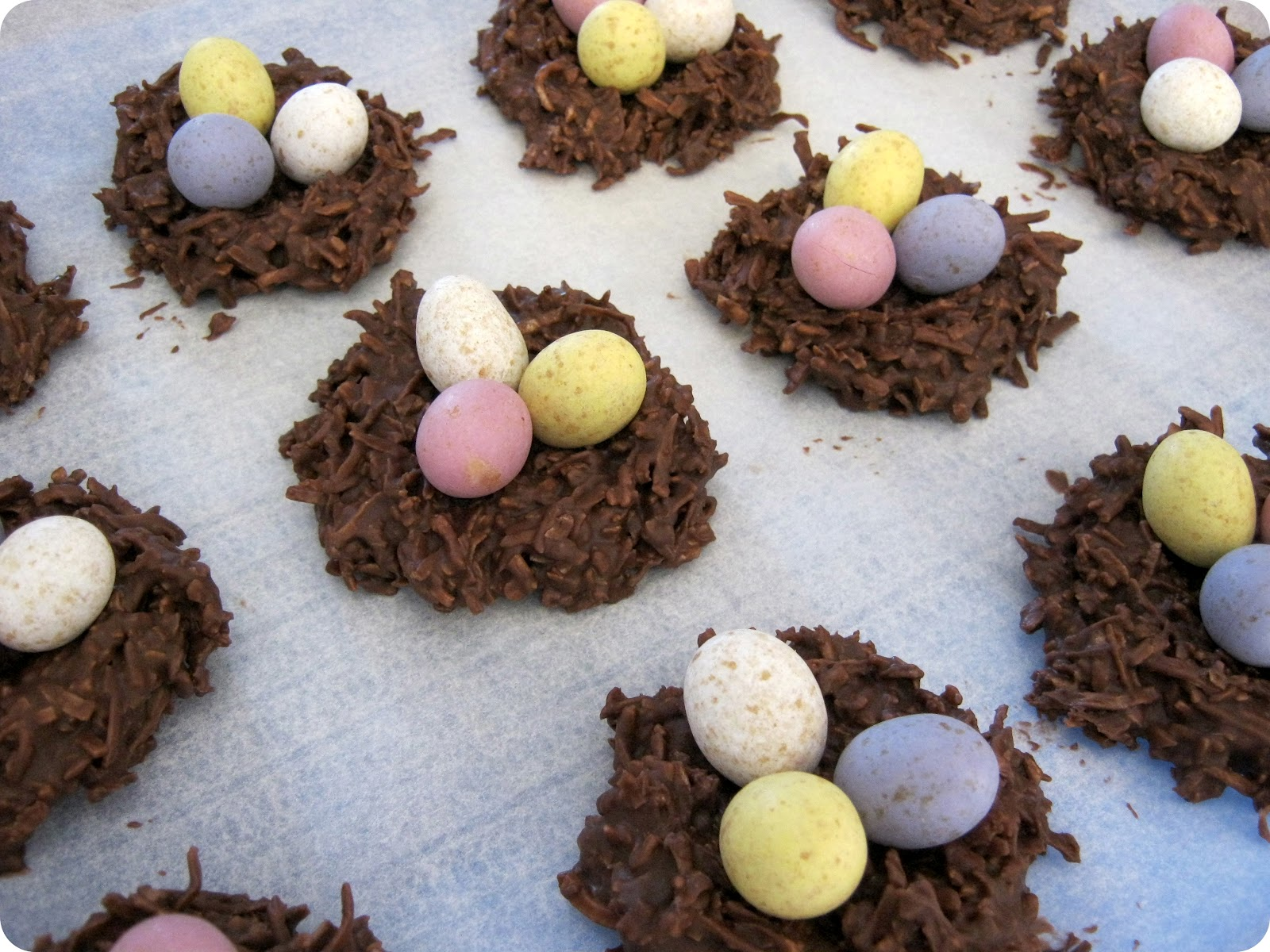 STITCH by Fay: Chocolate Coconut Nests (muffin/cupcake ...