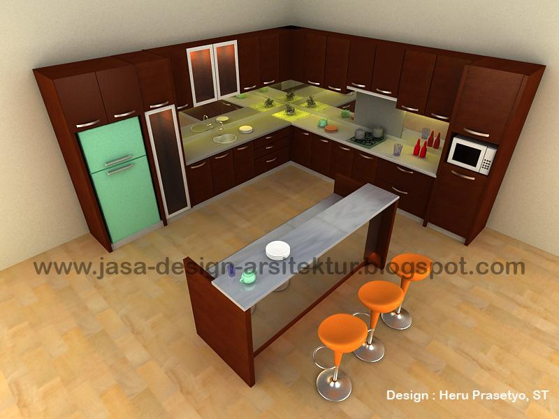 Contoh design kabinet tv ask home design for Kitchen set surabaya