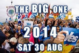 March & Rally For Scottish Independence 2014