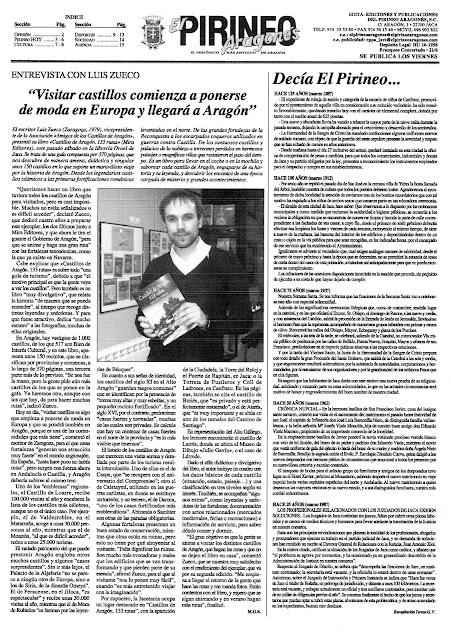 """Entrevista en """"El Pirineo Aragonés"""""""