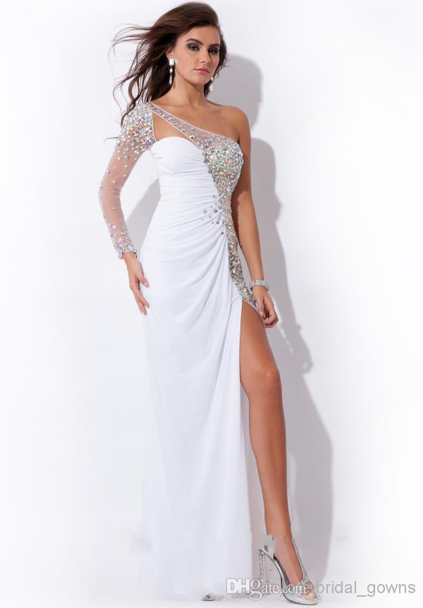 White Formal Prom Dresses 34