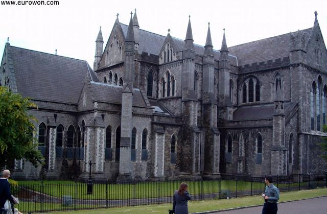 Detalle de la catedral de San Patricio en Dublín