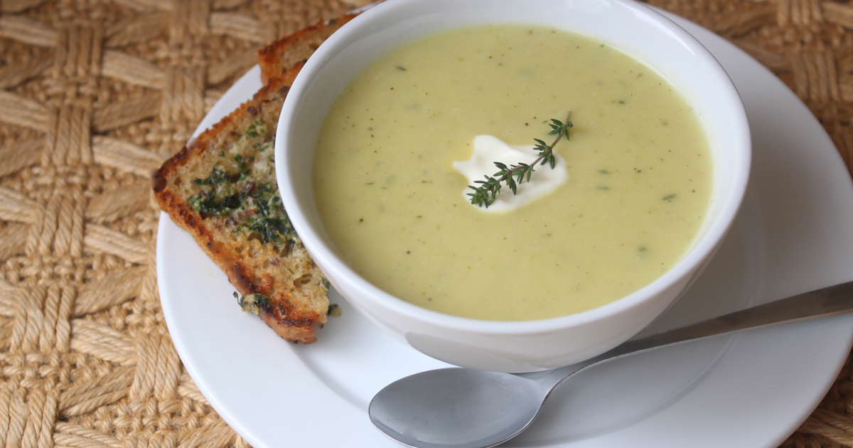 Incredibly Edible: Leek Potato & Parsnip Soup with Thyme