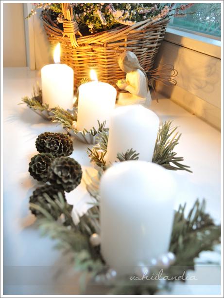 boże narodzenie - świece adwentowe - dekoracja okna