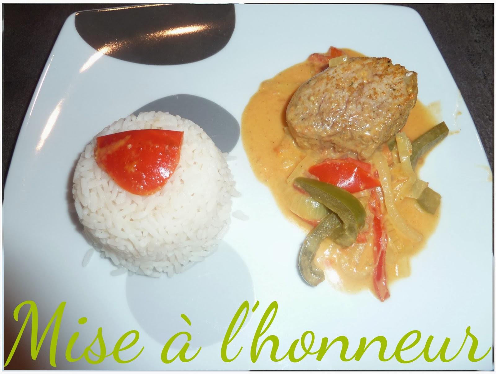 Grenadins de porc au curry et les légumes poêlés