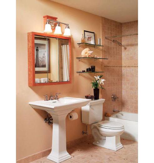 lavabo decoracao barata:Aqui uma dica para instalação de prateleiras de vidro.