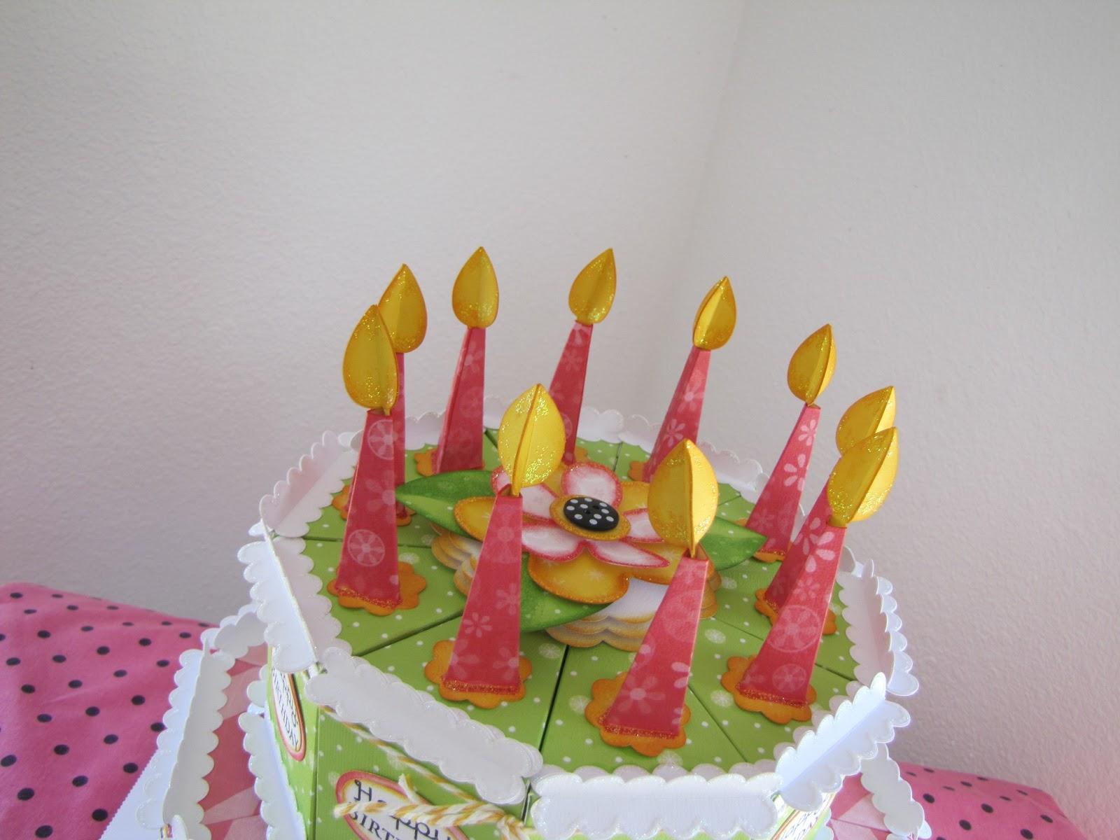 Raining Grace Happy Birthday Cake Box