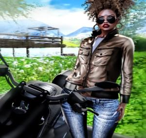 SL Freebie  Princess Leather Jacket CLOCKHAUS