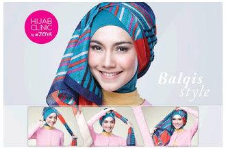 Contoh Tutorial Cara Memakai Hijab Modern Dan Modis Terbaru 2015