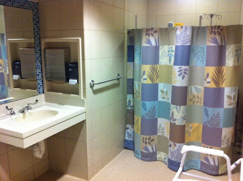 The large bathroom at new MDACC High Rise