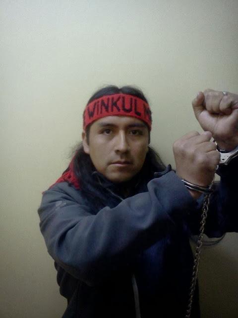 Daniel Melinao in handcuffs