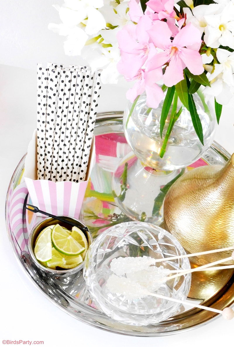 How to style a bar at home - DIY Bar Styling without a Bar Cart