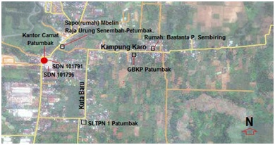 Peta Satelit Kuta Karo(Kampung Karo) Patumbak