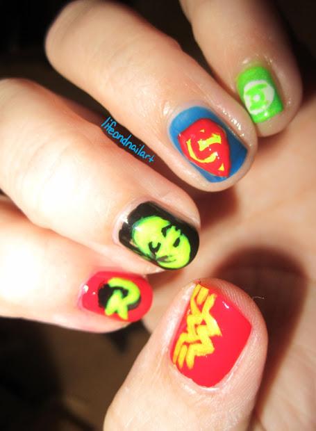 life and nail art superheroes