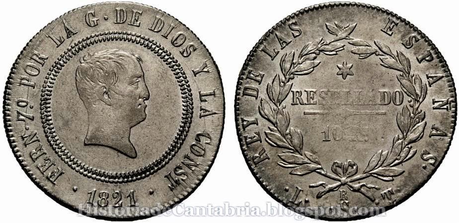 10 reales Fernando VII