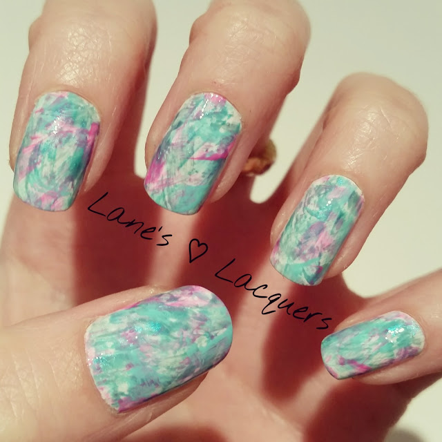 40-great-nail-art-ideas-teal-brush-stroke-nail-art