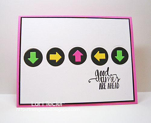 Good Times Are Ahead card-designed by Lori Tecler/Inking Aloud-stamps and dies from Avery Elle