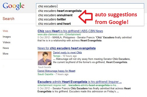Chiz Escudero search suggestions