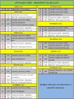 Calendário da Casa