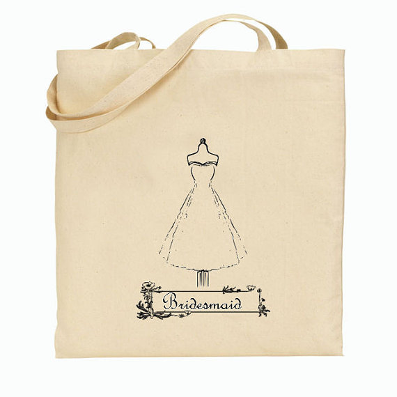 Wedding Gift Bag Totes : ... Wedding Gifts to your Bridal Party} A Favorite Chic Bridesmaid Tote