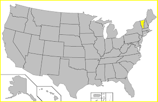 Mapa Vermont