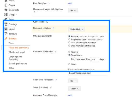 Sistem komen blogspot
