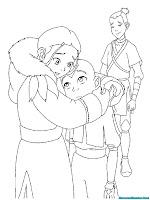 Mewarnai Gambar Avatar Aang Katara Dan Sokka