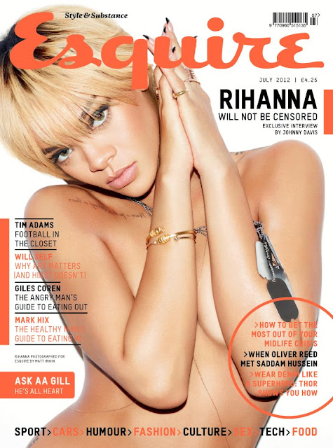 rihanna magazines naked cover