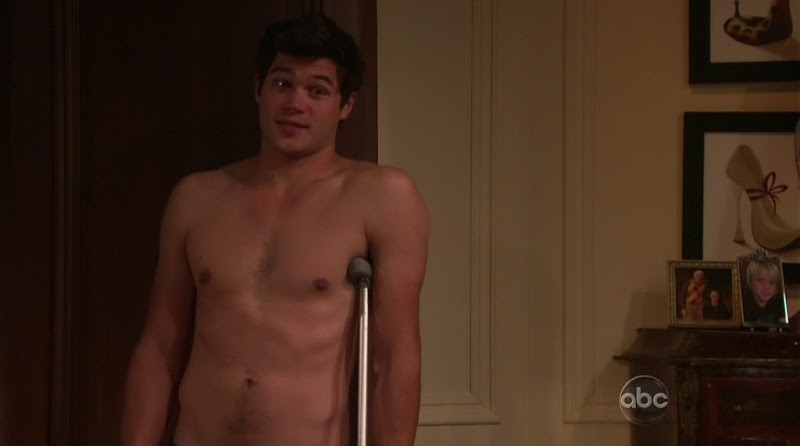 Trent Garrett Shirtless in All My Children 20110615