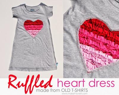 Ruffled Heart Dress