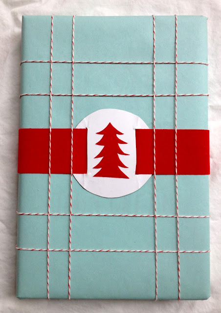 turquoise and red Christmas wrapping