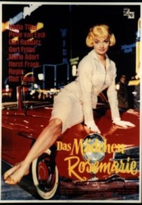 Cartel del largometraje Das Mädchen Rosemarie de Rolf Thiele, que contó con efectos sonoros creados por Oskar Sala con el Mixturtrautonium