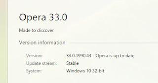 Opera v33.0 Terbaru
