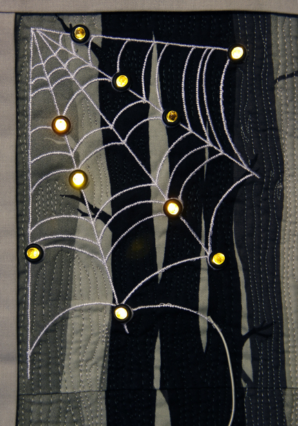 Quilt wall hanging with lights