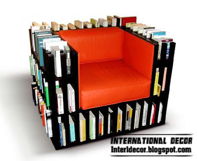 Interior Decor Idea: Contemporary chairs bookcase furniture