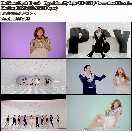 Download MV Psy ft. HyunA (4Minute) - Oppa Is Just My Style (오빤 딱 내 스타일) (Full HD 1080p)