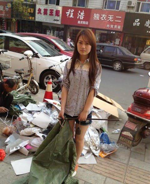 Foto Pemulung Cantik Dari China