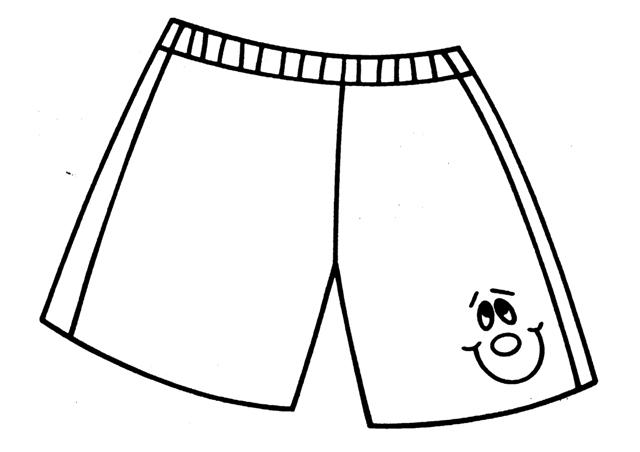 Dibujos de pantalones cortos para colorear - Imagui