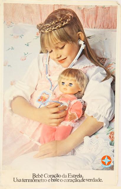 Propaganda da Boneca Bebê Coração da Estrela apresentada nos anos 70.