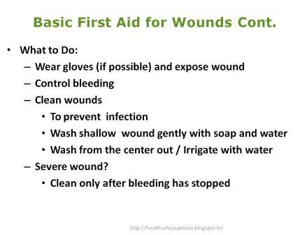 wounds and bleeding 1st aid Doctors give trusted, helpful answers on causes, diagnosis, symptoms, treatment, and more: dr fung on first aid for cuts wounds and bleeding: wash cuts and scrapes with tap water and a liquid soap.