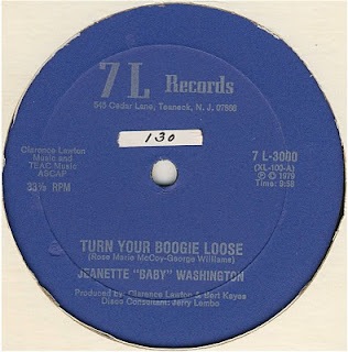 Jeanette  Baby Washington - Turn Your Boogie Loose