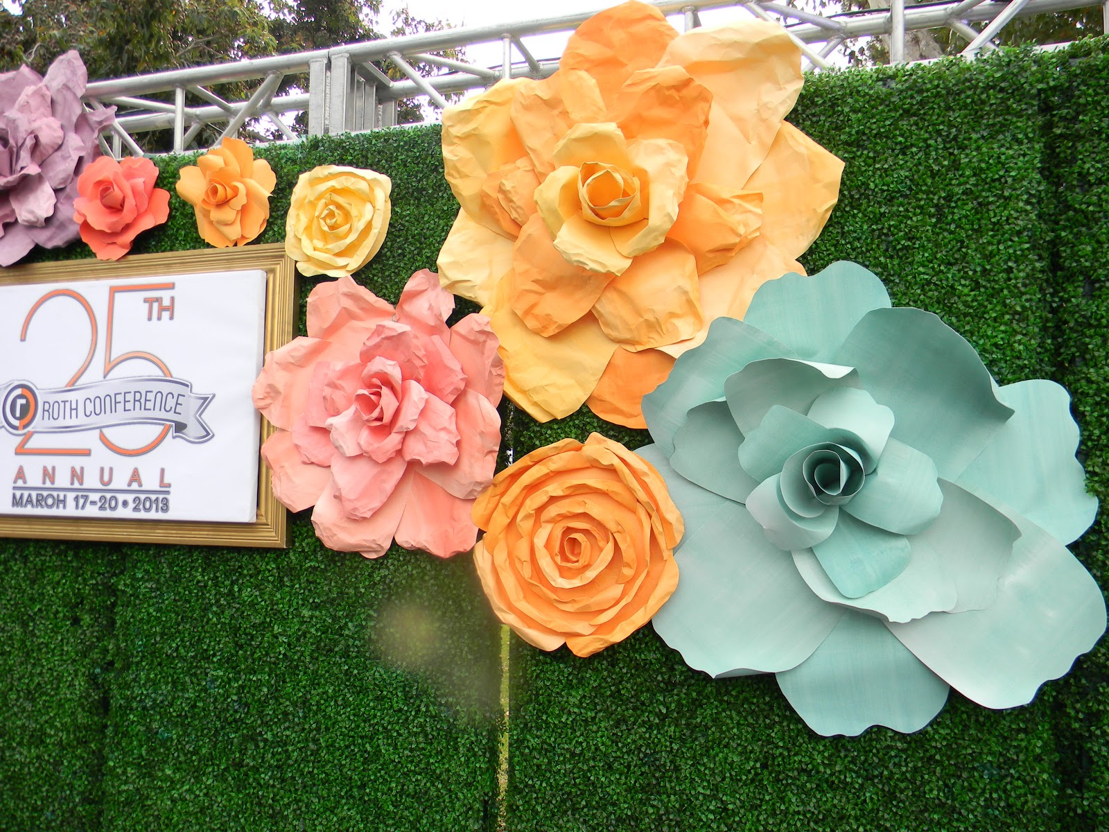 Client Wedding Beautiful Paper Flower Backdrop Fanciful Designs
