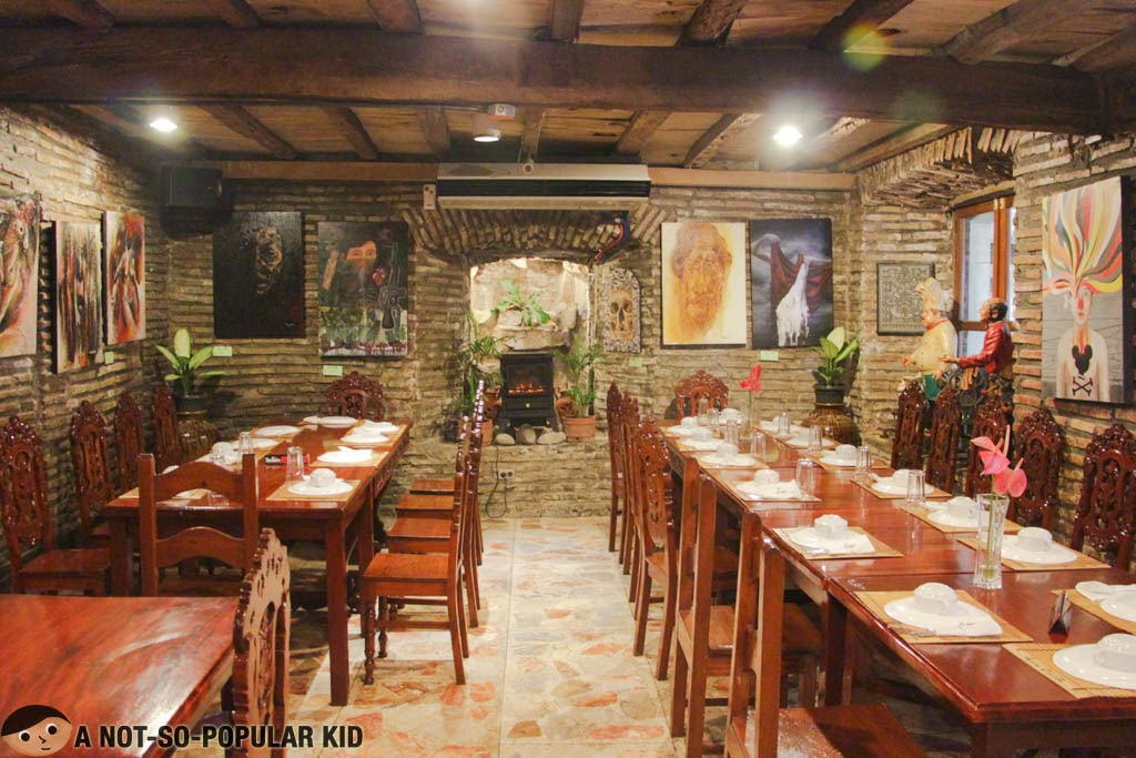The quaint interior of Cafe Uno in Vigan City