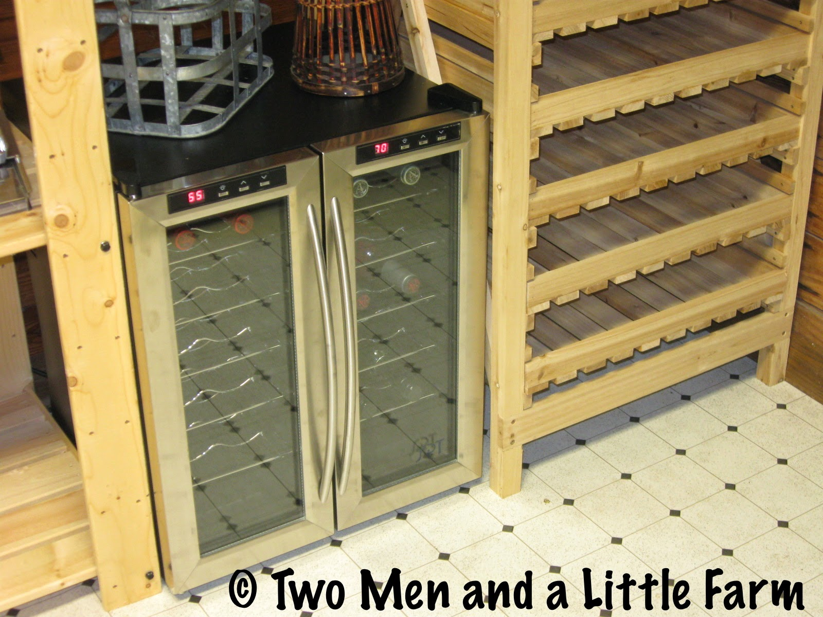 Two Men And A Little Farm Dual Zone Wine Fridge