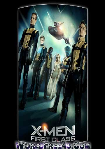 Poster Of X Men First Class (2011) In Hindi English Dual Audio 300MB Compressed Small Size Pc Movie Free Download Only At worldfree4u.com