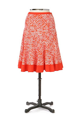 Anthropologie Squiggle Skirt