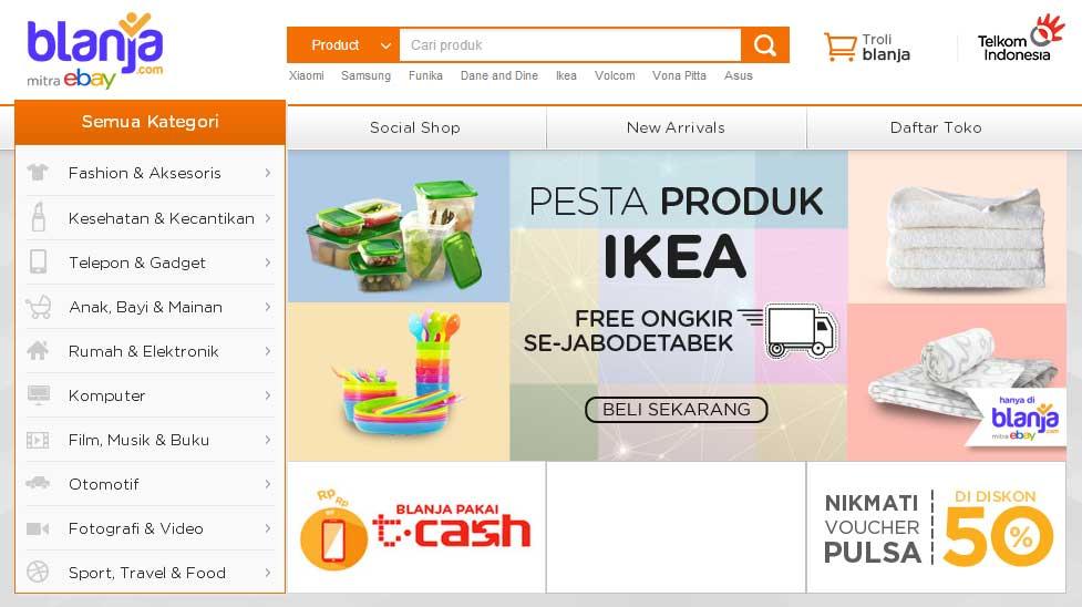 situs online marketplace hasil join venture antara Telkom Indonesia ...