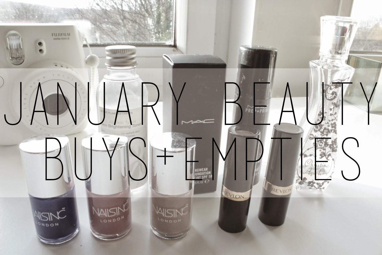 January Beauty Buys+Empties