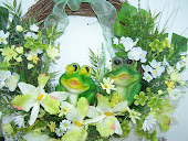 CUSTOM DESIGNED FROG WREATH