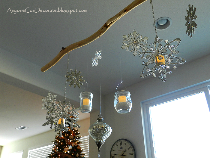 anyone can decorate my diy christmas ornament chandelier - How To Decorate A Chandelier For Christmas